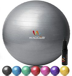 Wacces® Fitness Exercise and Stability Ball (Gray, 55 cm) - http://www.exercisejoy.com/wacces-fitness-exercise-and-stability-ball-gray-55-cm/cardio-training/