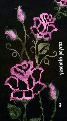 This Pin was discovered by Mel Creative Embroidery, Hand Embroidery Designs, Filet Crochet, Crochet Motif, Cross Stitching, Cross Stitch Embroidery, Cross Stitch Designs, Cross Stitch Patterns, Purple Books