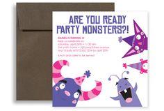 Fun Party Theme Blank Birthday Invitation 5x5 in. Square