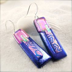Enchanté Dichroic Earrings by HanaSakuraDesigns on Etsy
