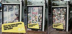 #Guerrilla #art alla fermata dell'autobus, tra arte, design e #marketing  #Websista