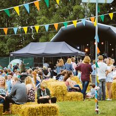 #grazefestival #graze2016 #bunting #fields #haybale #stage #music #performance #bands #hampshire #twyford #winchester #family #fun