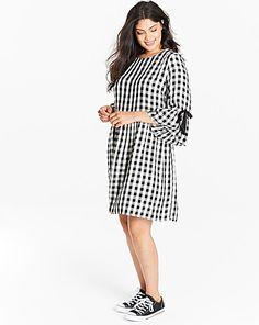 Smock Gingham Dress | Simply Be