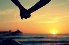 Holding hands with someone I love.