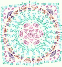 Transcendent Crochet a Solid Granny Square Ideas. Inconceivable Crochet a Solid Granny Square Ideas. Motif Mandala Crochet, Crochet Mandala Pattern, Crochet Motifs, Granny Square Crochet Pattern, Crochet Blocks, Crochet Flower Patterns, Crochet Diagram, Crochet Chart, Crochet Squares