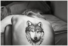 "wolf tattoo ideas. ""A wolf does not concern herself with the opinions of sheep."""