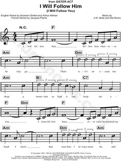"""I Will Follow Him"" from 'Sister Act' Sheet Music for Beginners - Download & Print"