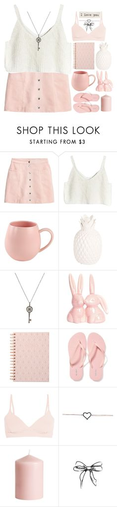 """I Love You♡"" by bekah-04 ❤ liked on Polyvore featuring H&M, Zara Home, Karma Jewels, DESIGNWORKS INK, Old Navy, Yummie by Heather Thomson and Talullah Tu"