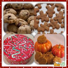 Kelly's Gourmet Doggie Holiday Treat Tin Collection-Order online at www.kellysgourmetdoggie.com Gourmet Dog Treats, Treat Yourself, Holiday Treats, Gingerbread Cookies, Yummy Treats, Tin, Bakery, Desserts, Collection