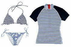 Great T-shirt! Pret-à-Surf x Thakoon bikinis ($130 to $210) and short-sleeve rash guard ($195) at Barneys New York;