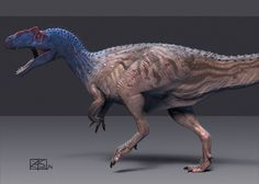 Allosaurus, painted by Gorgonzola on DeviantArt
