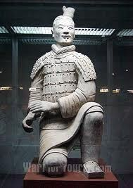 Chinese terracotta warrior Built with coils