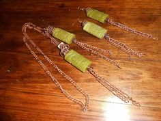 Lariat necklace Asian beads and antiqued copper with by KANDYLEES, $55.00