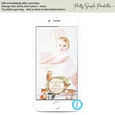 Woodland Baby Shower Snapchat Filter, Woodland Geofilter, Templett, Woodland Template, Woodland Theme, Woodland Animals, Download WD02 Woodland Theme, Woodland Baby, Woodland Animals, Snapchat Template, Photo Booth Frame, Snapchat Filters, Table Signs, Baby Shower Printables, Baby Shower Games