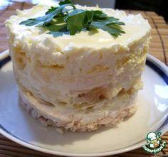 """Салат """"Оля-ля"""" - из курицы, сыра, яблок и яиц"""
