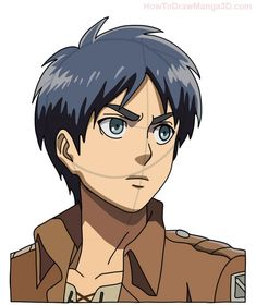 Learn how to draw Eren Yeager from Attack on Titan AKA Shingeki no Kyogin today! ^_^ Eren is the main character of this popular Manga and Anime series and he guards a terrible secret! Anime Drawings Sketches, Cartoon Drawings, Cute Drawings, Anime Character Drawing, Manga Drawing, Manga 3d, Instruções Origami, Otaku, Popular Manga