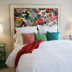 Look at that headboard! The bedding is kinda a bummer though...