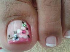 17 Ideas french pedicure designs toenails pretty toes for 2019 Flower Pedicure Designs, French Pedicure Designs, Toenail Art Designs, Pedicure Nail Art, Toe Nail Art, Toe Nails, Fancy Nails, Pretty Nails, Pretty Toes