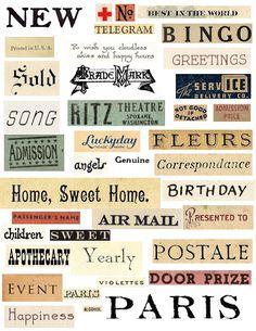 Free printable word collage