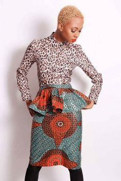 African print skirt style