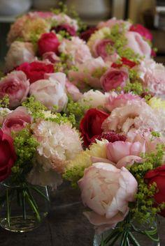 peony,rose and mum
