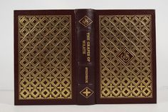 Illustrated Color Gilt Decorative Leather  Easton Press Grape Of Wrath Book