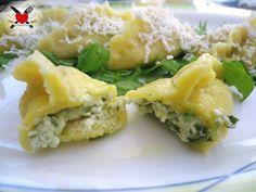Ravioli ripieni al gorgonzola dolce e rucola
