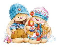 "Photo from album ""разобрать"" on Yandex. Illustration Mignonne, Illustration Noel, Cute Animal Illustration, Illustrations, Tatty Teddy, Bunny Art, Cute Bunny, Cute Images, Cute Pictures"
