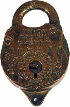 Union Pacific Overland Route Door Knob Lock, Door Knobs, Under Lock And Key, Key Lock, Gate Handles, Antique Shelves, Unique Key, Old Keys, Knobs And Knockers