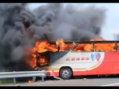 Tourist Coach Catches Fire in Taiwan, Killing 26 - YouTube