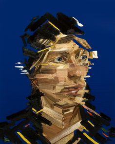 Unique Abstract Portrait Paintings by Erik Olson