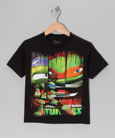 Take a look at this Black TMNT Profile Tee - Boys by Teenage Mutant Ninja Turtles on #zulily today!