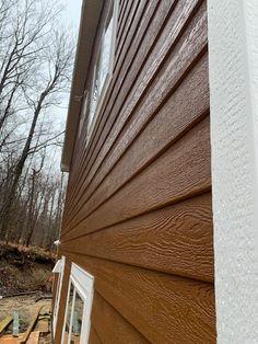 Wood Siding Colors - Cedar Rustic. Exterior Siding Colors, Exterior Design, Rustic Colors, Wood Colors, Engineered Wood Siding, Metal Siding, Cozy House, Building A House, House Plans