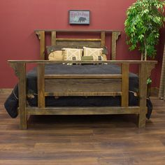 barn wood furniture | Barnwood Furniture Adds a Commanding Bedroom Presence - Rustic ...