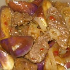 Szechuan Spicy Eggplant . Disclaimer! It tastes and looks a lot better in real life than it does in this picture.
