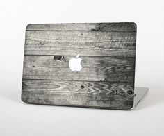 """Dark Washed Wood Planks Skin for MacBook 