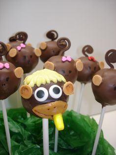 Parker's Monkey Birthday Cakepops