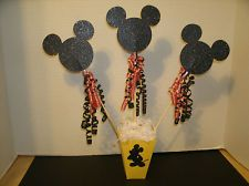 Mickey Mouse Table Centerpiece For Disney Birthday Party - Glitter Cardstock