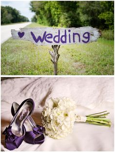 signs to point direction for camping wedding