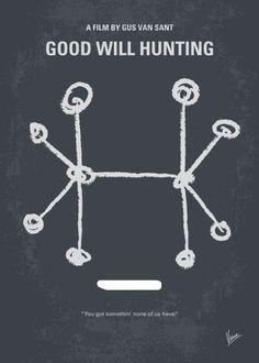 Good Will Hunting (1997) ~ Minimal Movie Poster by Chungkong #amusementphile