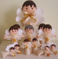 Sue Paula - Linha Feltro: Anjos para batizado