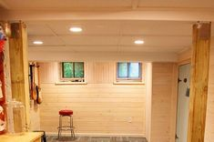 How to Finish Your Basement and Basement Remodeling Finishing your basement can almost double the square foot living space of your home. A finished basement can include new living space such as a r… Basement Ceiling Insulation, Basement Ceiling Painted, Basement Ceiling Options, Basement Walls, Ceiling Ideas, Basement Ideas, Basement Wainscoting, Basement Painting, Basement Decorating