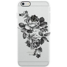 Uncommon English Rose iPhone 6 Plus Clear ($29) ❤ liked on Polyvore featuring accessories, tech accessories, phone, phone cases, tech, cases und multi