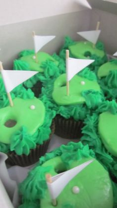 Golf Cupcakes from Sugar Rush Cupcakes in Wallkill, NY.  Please LIKE us! https://www.facebook.com/sugarrushcupcakeswallkill