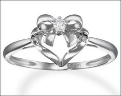 Bow promise rings