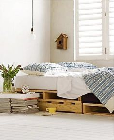 Here are our 30Cool Bedroom Ideasthat will let you get inspired for your bedroom design. Which one below is your favorite bedroom design? Swing bed? wooden pallets bed or bed on lockable casters? 1|Set your bed up against a wall so you can prop pillows up when you need to use it as a couch. …