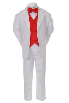 7pcs Boys Baby Kid White Suits Tuxedo Satin Red Bow Tie Vest Set all Size - https://fashionshop101.com/product/7pcs-boys-baby-kid-white-suits-tuxedo-satin-red-bow-tie-vest-set-all-size/