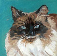 Tipper the Cat Original Fine Art Print by BarkingDogCreations, $20.00