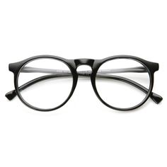 Indie Retro Round Clear Lens Fashion Glasses 8710 from zeroUV