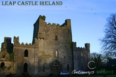 Another stunning photo of the famous Leap Castle, Ireland - built mid Century Leap Castle Ireland, Castles In Ireland, Tower Bridge, Barcelona Cathedral, Places To See, Building, Travel, Voyage, Buildings